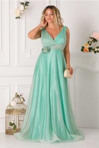 rochie-ladonna-verde-mint-lunga-cu-floare-3d-in-talie
